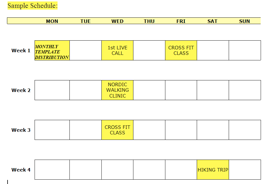 Sample Get Fit Strength123 Schedule